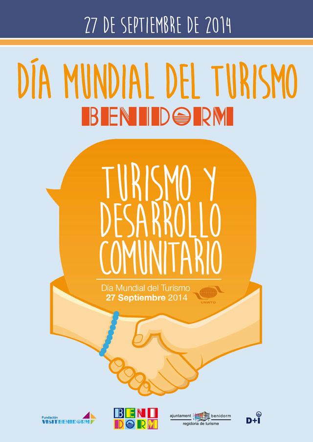 Cartel para el Día Mundial del Turismo 2014 en Benidorm