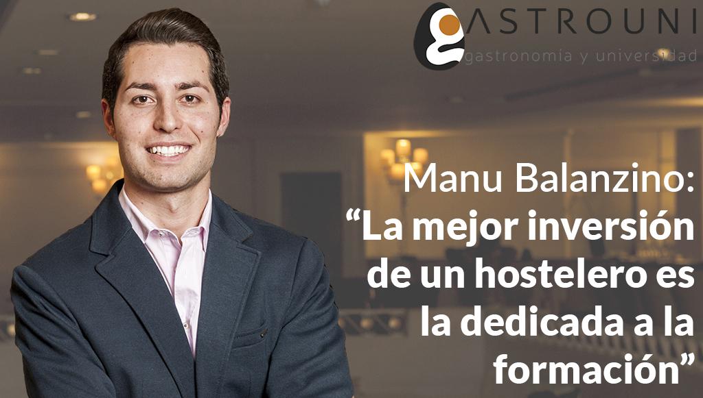 Manu Balanzino nuevo profesor de Gastrouni
