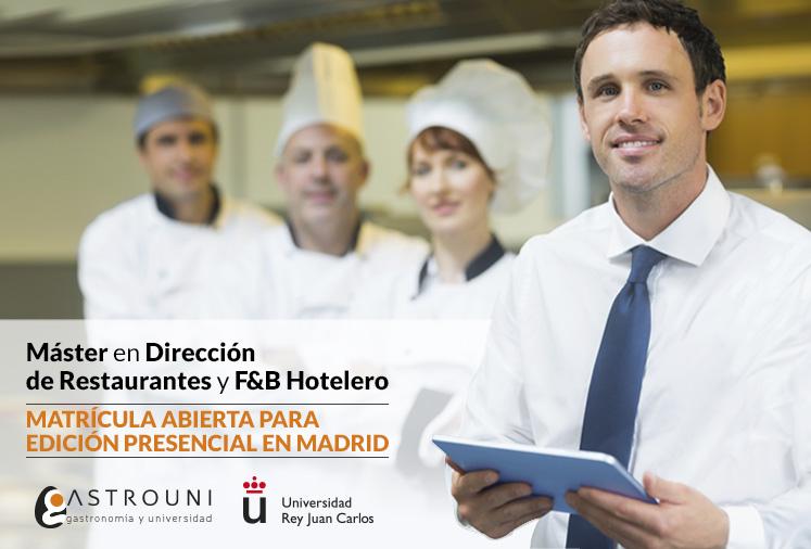 Máster de Restaurantes Madrid