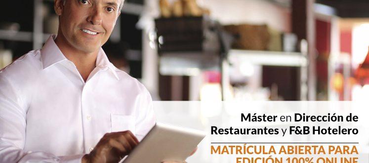 Máster 100% Online en Dirección de Restaurantes por Gastrouni