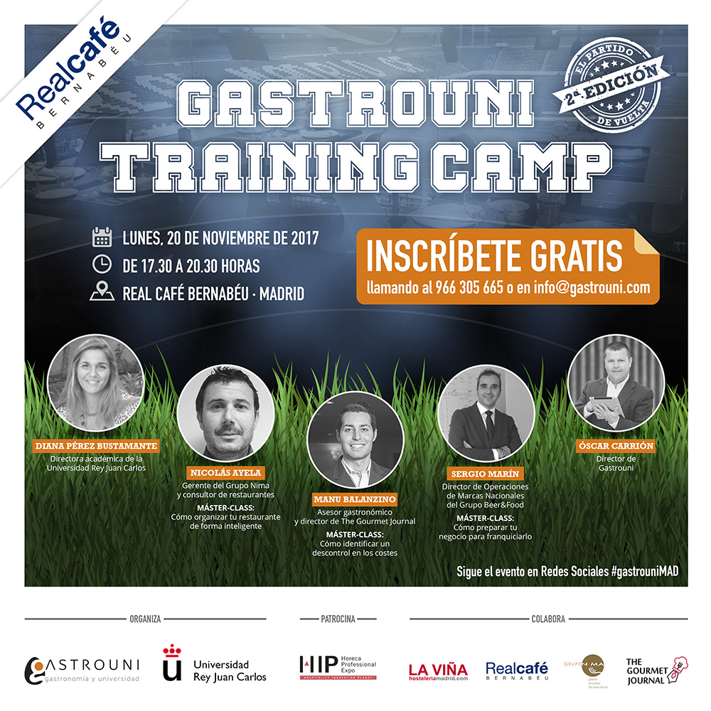 Gastrouni Training Camp segunda edición en Madrid 2017