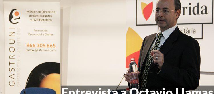 Portada de la entrevista a Octavio Llamas