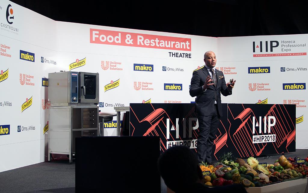 Cristian García en el espacio Food & Restaurant de Gastrouni en HIP 2018