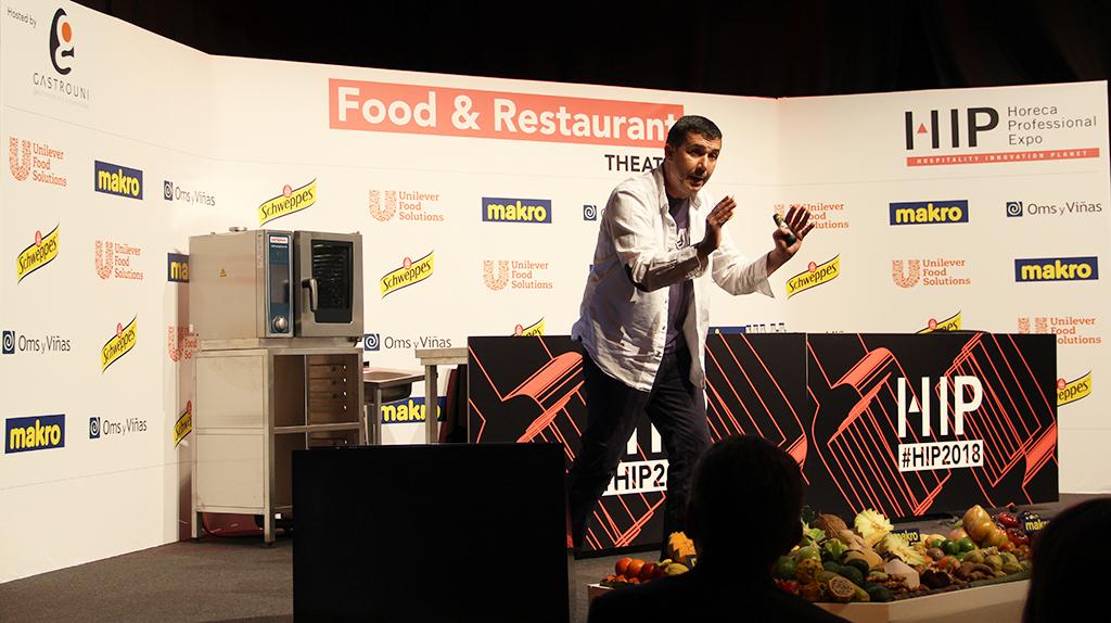Nicolás Ayela en el espacio Food & Restaurant Theatre