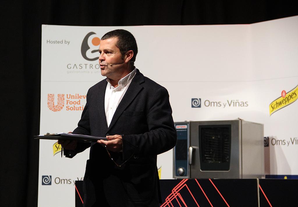 Óscar Carrión en el espacio Food & Restaurante en HIP