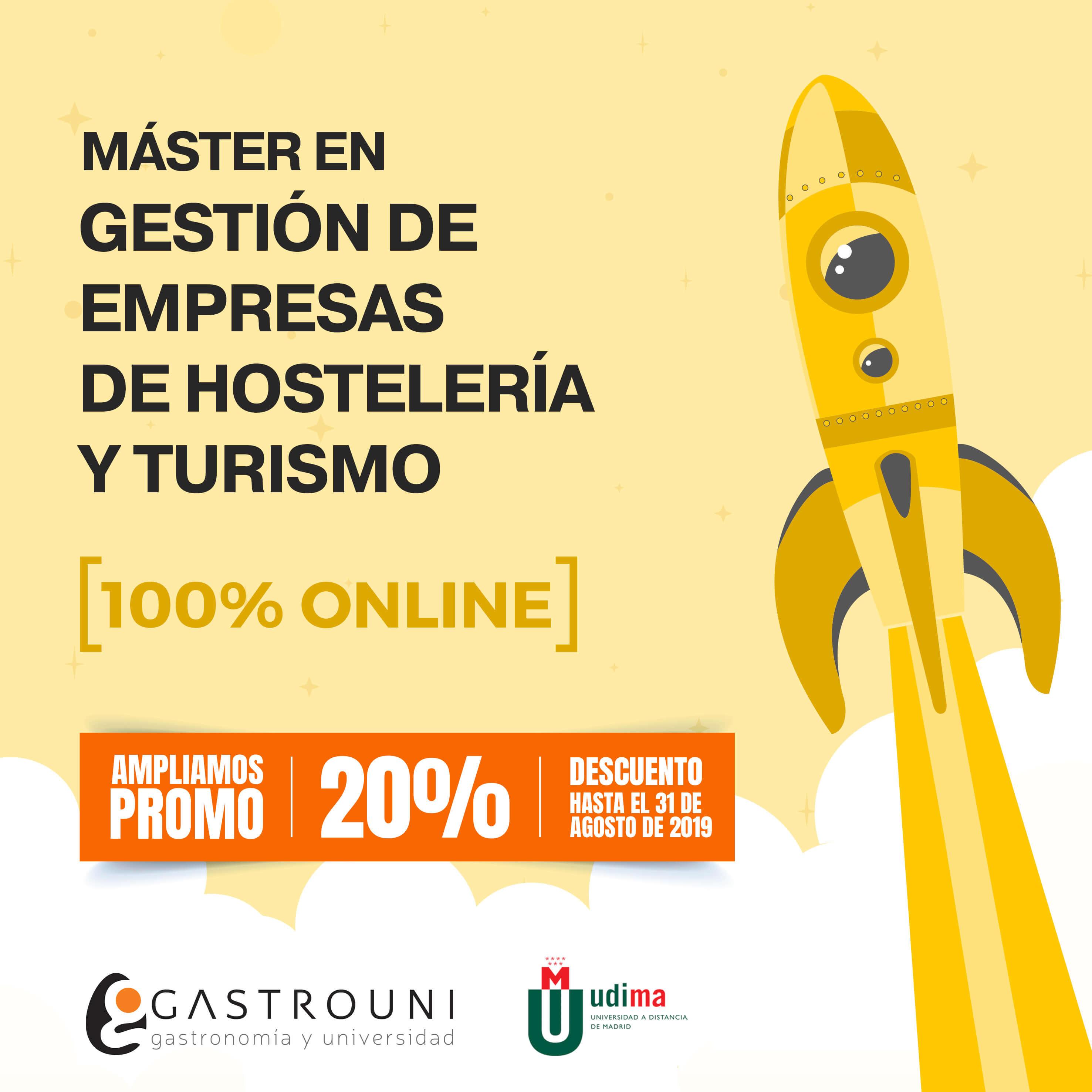 Ampliamos promoción para el Máster en Gestión de Empresas de Hostelería y Turismo de Gastrouni y UDIMA