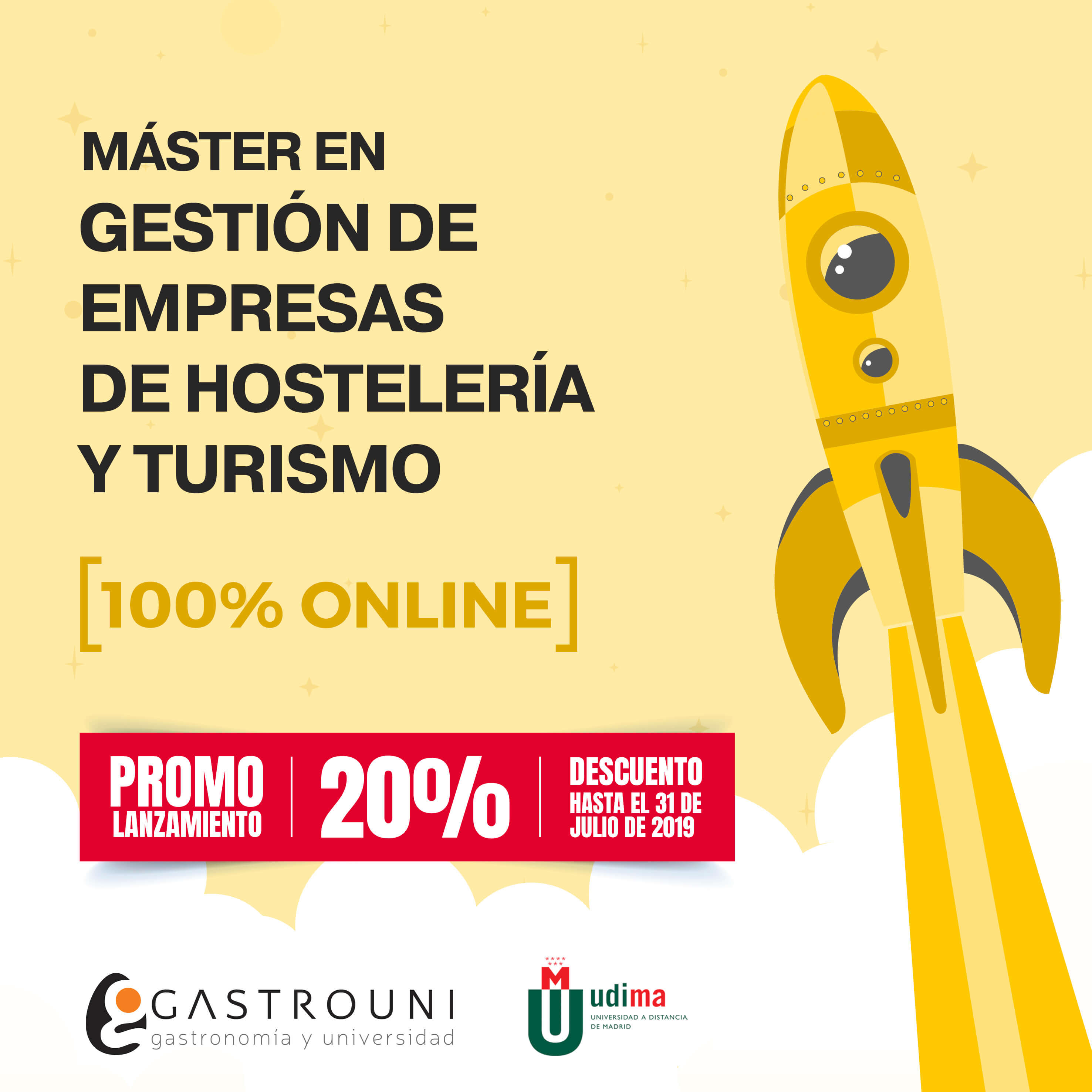 Promoción para el Máster en Gestión de Empresas de Hostelería y Turismo de Gastrouni y UDIMA
