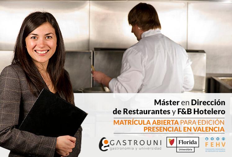 Máster en Dirección de Restaurantes de Gastrouni en Valencia