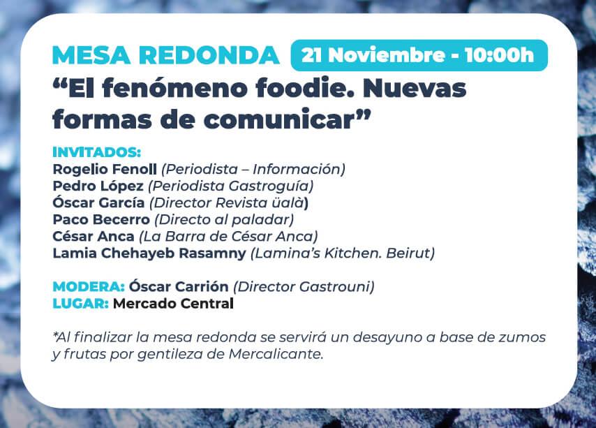 Mesa Redonda - Alicante Gastro Festival 2019