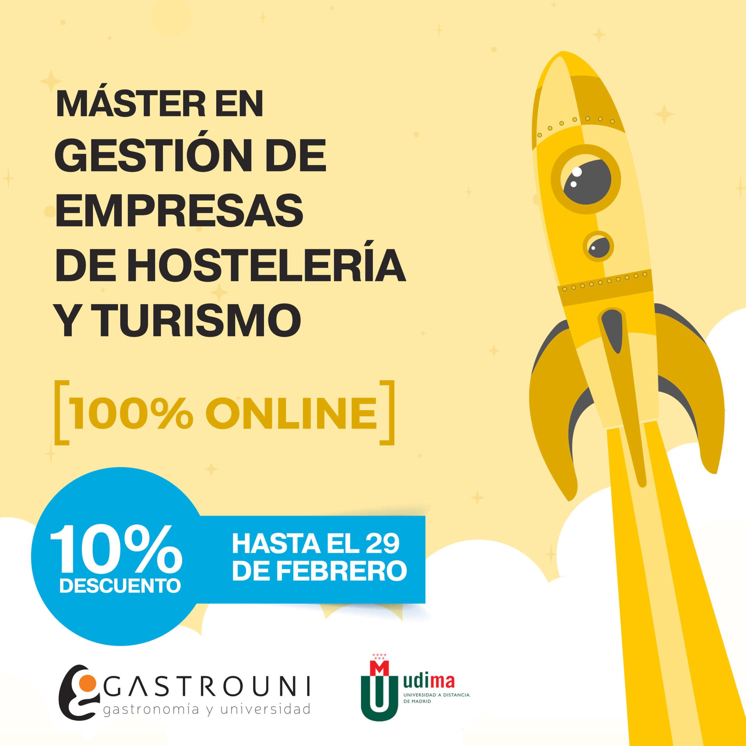 Máster en Gestión de Empresas de Hostelería y Turismo