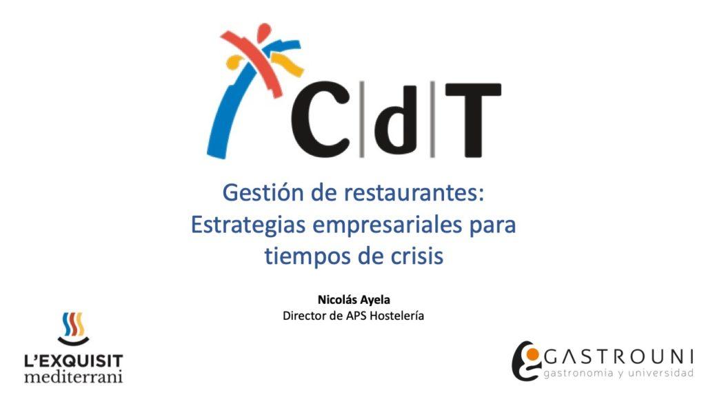 Gestión de restaurantes: Estrategias empresariales para tiempos de crisis